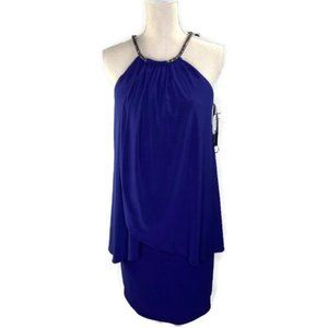 Betsy & Adam Halter Popover Dress Size 8